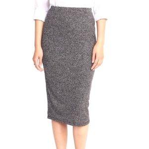 Old Navy Jersey Knit Midi Pencil Skirt